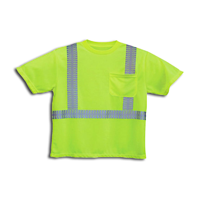 Elastic stretch reflective tape hi vis t shirt fts51 for Hi vis shirts with reflective tape